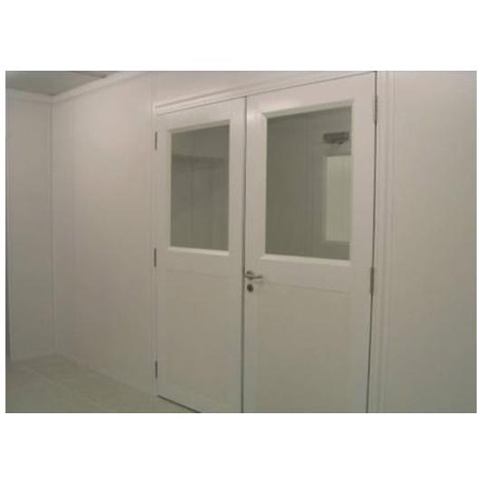 דלת דו כנפי לחדר נקי