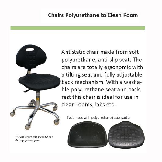 כסא אנטי סטטי לחדר נקי Polyurethane