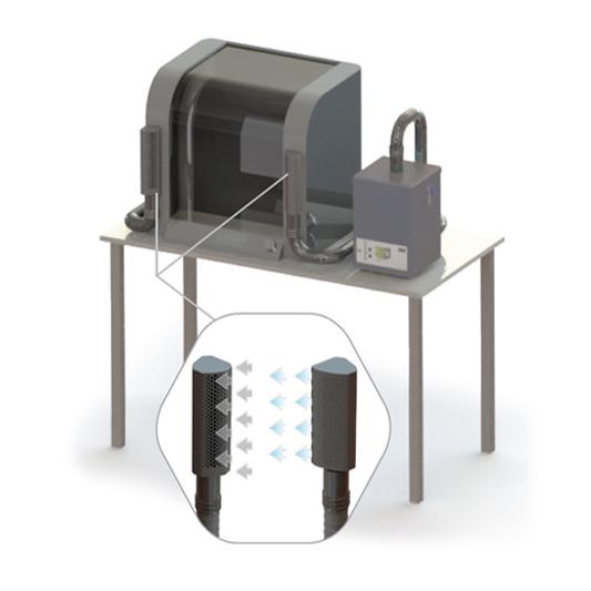 מערכת שאיבה למדפסת 3D