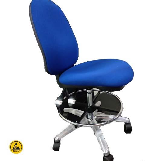 כסא אנטי סטטי בד כחול