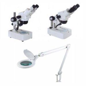 מיקרוסקופים ומנורות הגדלה