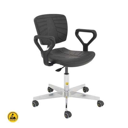 כסא comport פוליאוריטן אנטי סטטי לחדר נקי