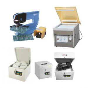 מכונות אריזת ואקום, ספירת רכיבים וחיתוך כרטיסים