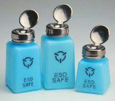 בקבוק כחול לכימיקלים עם קפיץ