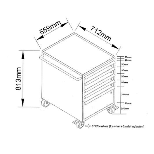 ארוניות מגירות Tool cart