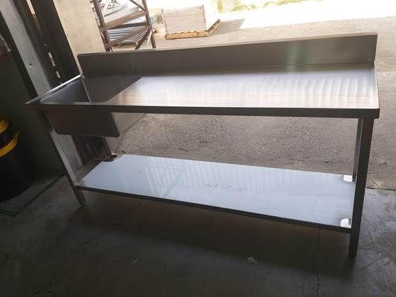 שולחן נירוסטה כולל כיור